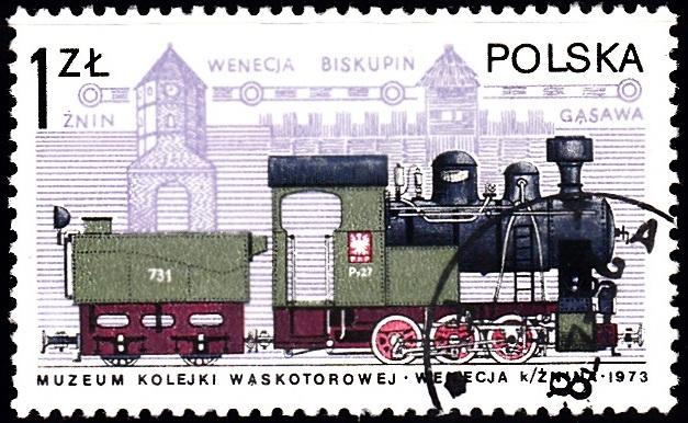 2. Narrow-Gauge Engine & Gothic Tower [Locomotives in Poland]
