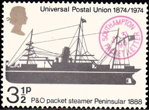 """720. Packet """"Peninsular,"""" 1888, and """"Southampton Packet Letter"""" Postmark"""