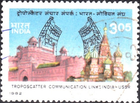 Troposcatter Antennae : Red Fort (Delhi) and Kremlin (Moscow)