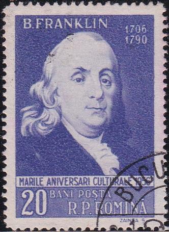 1122 Benjamin Franklin [Romania Stamp]