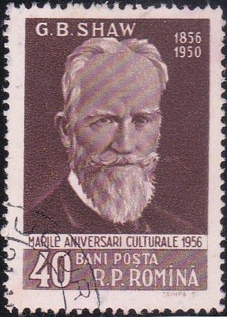 1124 G. B. Shaw [Romania Stamp]
