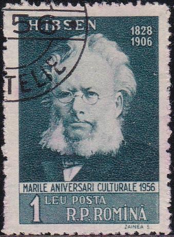 1127 Henrik Ibsen [Romania Stamp]