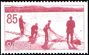 1170 Seine fishing [Views in Angermanland Province]