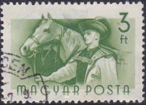 17 Herdsman in National Costume & Horse [Hungary Stamp 1955]