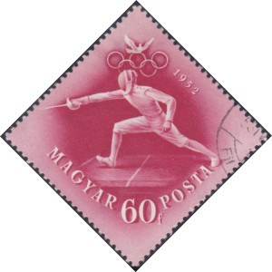 3 Fencer [Hungary's participation in the Olympic Games, Helsinki, 1952]