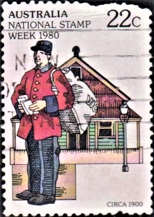 Australian Mail Delivery Man in c. 1900