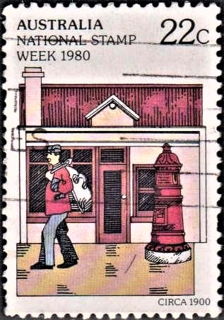 Postman and Victorian Post Office : British Settlement in Australia