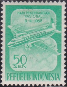 448 Two-motor plane of Indonesian Airways [National Aviation Day 1958]