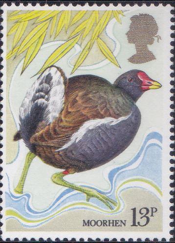 886 Moorhen [England Stamp 1980]