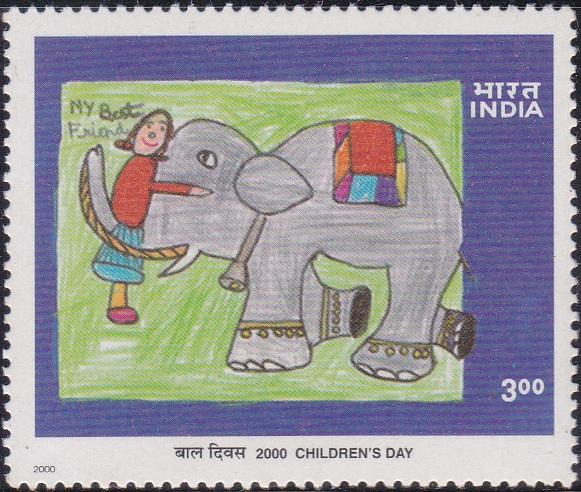 My Best Friend : a child hugging a friendly elephant
