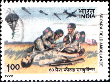 Indian Army Treating Casualty