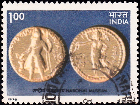 Both Sides of Kushan Gold Coin : National Museum, New Delhi