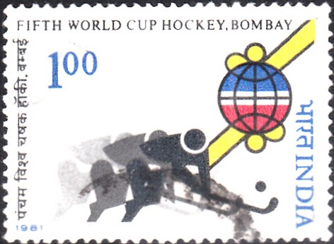 Stylized Hockey Players and Fifth Men's Hockey World Cup Emblem