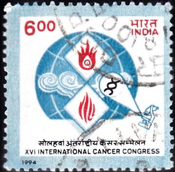Stylized Cancer Cells Globe : World Cancer Congress