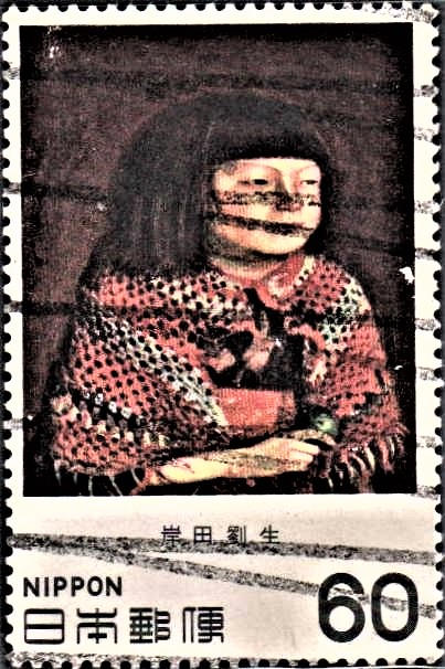 Portrait of Reiko Sitting (oil on wood) : Kishida Ryusei