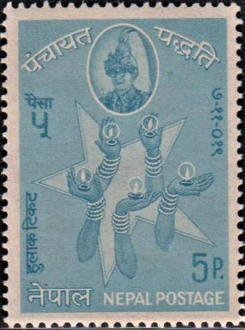 Five-pointed Star and Hands Holding Lamps