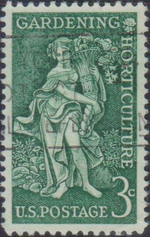 """1100 """"Bountiful Earth"""" - Gardening-Horticulture Issue [United States Stamp 1958]"""