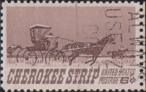 1360 Cherokee Strip [United States Stamp 1968]