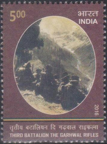 Soldiers of The Garhwal Rifles in the Mountains