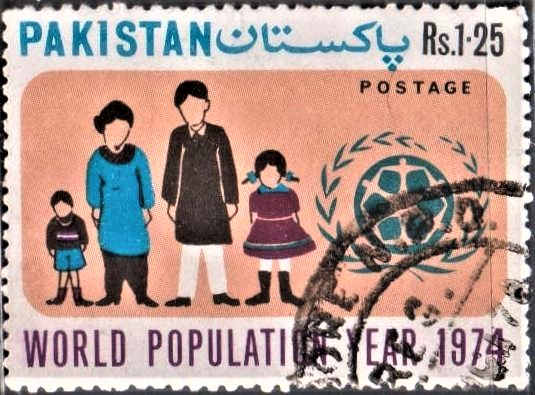 Small Pakistani Family : Father, Mother, Boy and Girl
