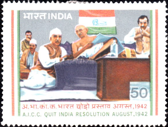 A.I.C.C. Quit India Resolution at Wardha in August, 1942