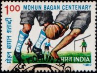 India Stamp 1989, Mohan Bagan A.C. Sporting Club, Indian Football, Bhupendra Nath Bose