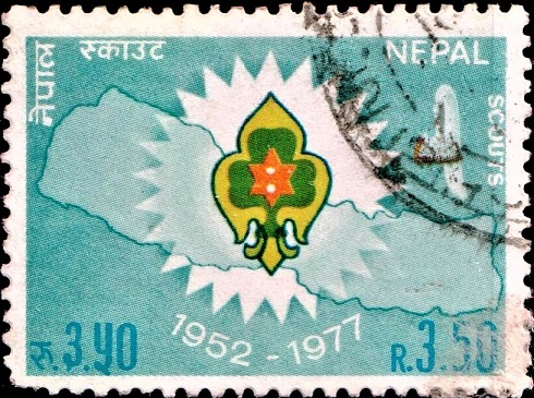 Scout Emblem and Map of Nepal